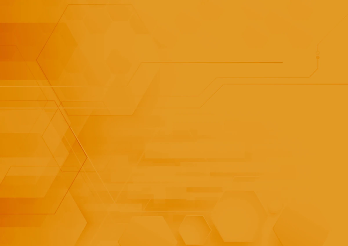 Orange tech background